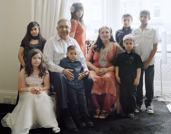 Shaheen Unis with her Husband and Grandchildren, Edinburgh, 19 June 2011. From A Scottish Family Portrait series