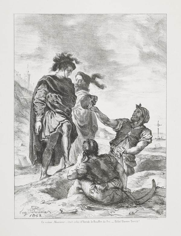Hamlet et Horatio devant les Fossoyeurs' (Hamlet and Horatio before the Gravediggers' (Act V, Scene I)