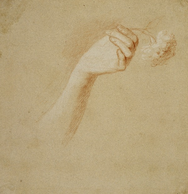 A Lady's Left Hand Holding a Rose. Study for the Painting 'The Artist's Wife: Margaret Lindsay of Evelick'