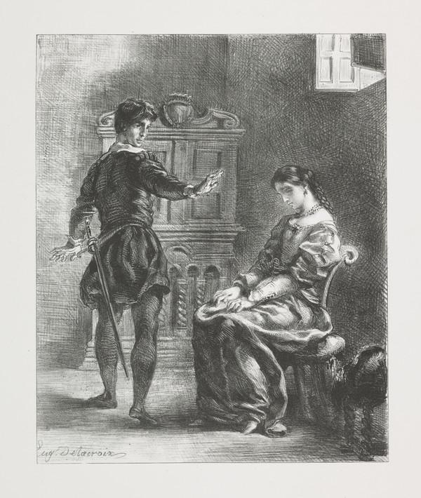 Hamlet et Ophelie' (Hamlet and Ophelia) (Act III, Scene I)