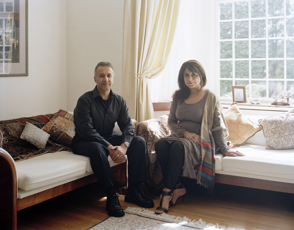 Nosheena Mobarik OBE and Iqbal Mobarik, Glasgow, 29 May 2011. From A Scottish Family Portrait series