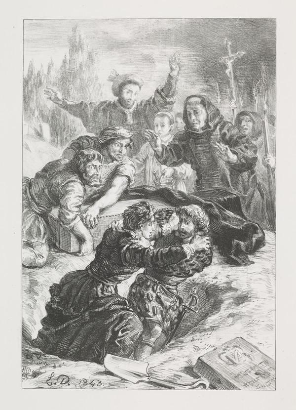 Hamlet et Laertes dans la Fosse d'Ophelie' (Hamlet and Laertes in Ophelia's Grave) (Act V, Scene I)