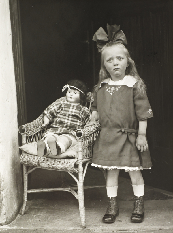 Girl with her Doll in a Chair, c. 1927-30 (1927 - 1930)