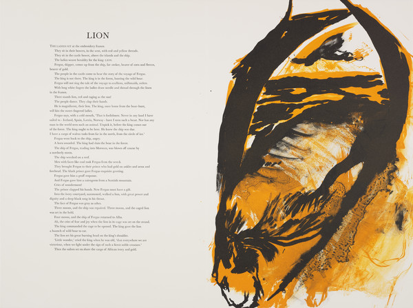 Lion (from 'The Scottish Bestiary')
