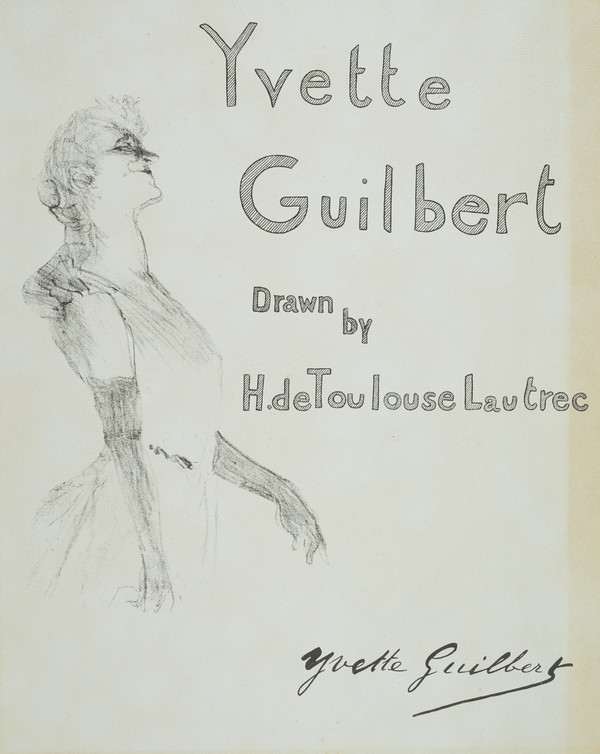 Cover for 'Yvette Guilbert'