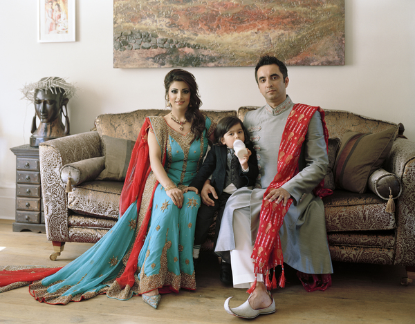 Aamer Anwar with his Family, Glasgow 29 August 2010. From A Scottish Family Portrait series