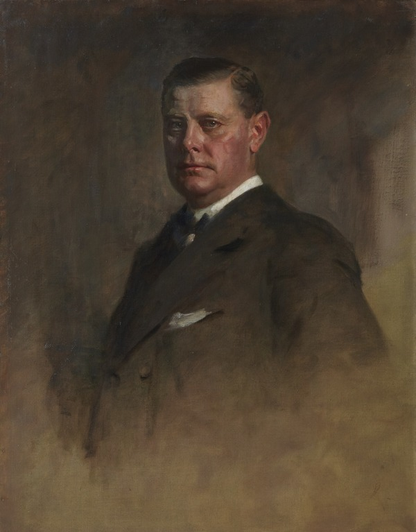 Sir Eric Campbell Geddes, 1875 - 1931. Statesman. (Study for portrait in Statesmen of the Great War)