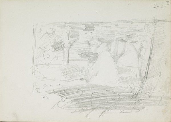 Composition Sketch for 'In the Orchard'