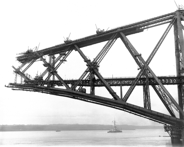 The Forth Bridge. Inchgarvie South Cantilver
