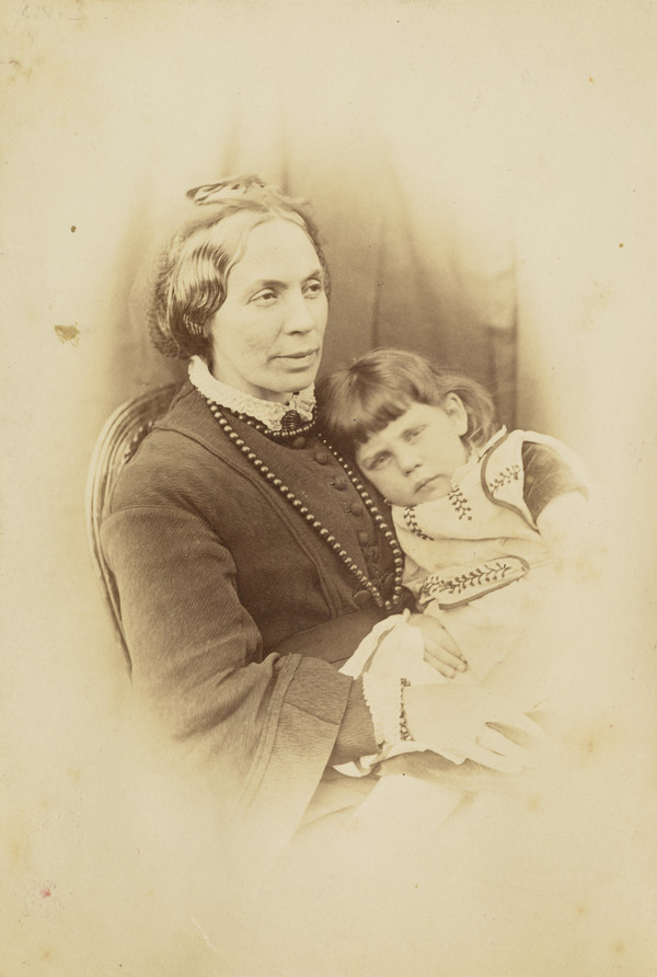 Louisa MacDonald (née Powell), 1822 - 1902  Wife of the author, George MacDonald (with youngest son)