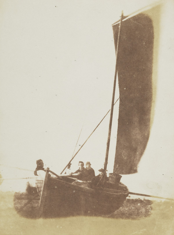 Oyster dredging boat sailing [Newhaven ?]