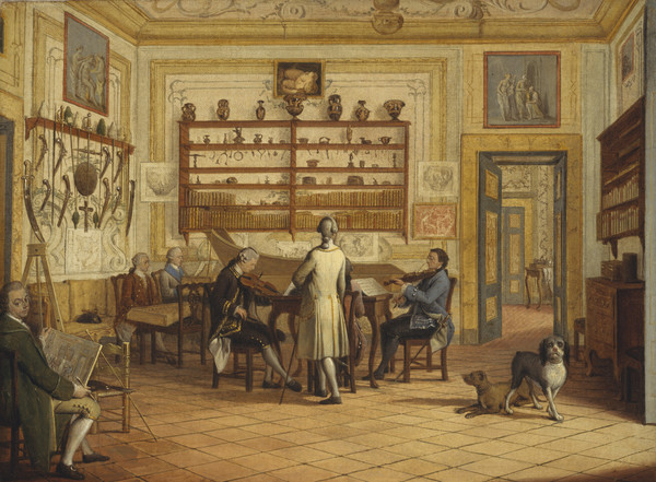 Kenneth Mackenzie, 1st Earl of Seaforth, 1744 - 1781, at home in Naples: concert party