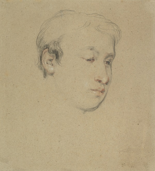 Head of a Youth. Study for the Painting 'The Letter of Introduction' (About 1813)