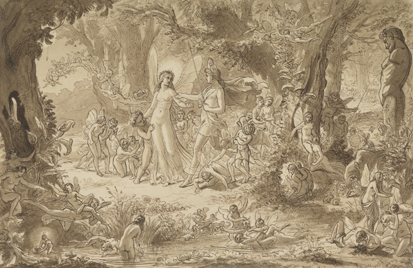 Study for the Painting 'The Quarrel of Oberon and Titania'