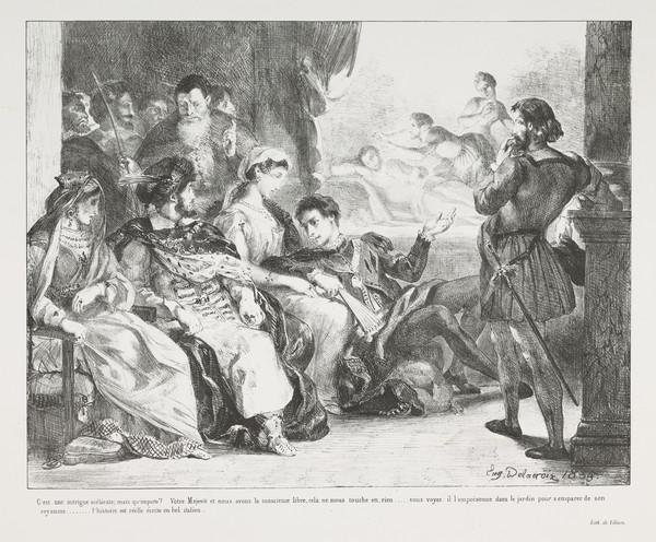 Hamlet Fait Jouer aux Comediens la Scene de l'Empoisionnement de son Pere' (Hamlet Plays with the Comedians the Scene of his Father's Poisoning) ...
