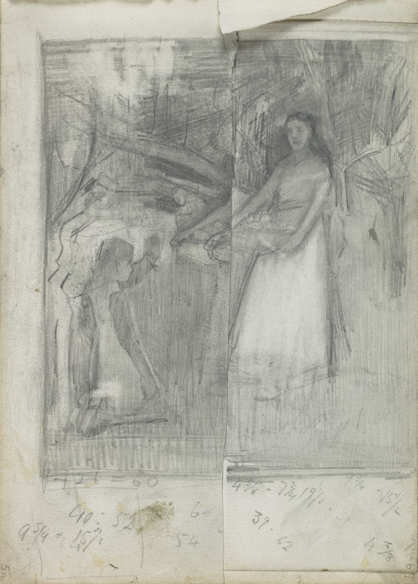 Composition Study for 'In the Orchard'