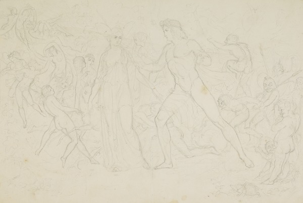 Compositional Study for the Painting 'The Quarrel of Oberon and Titania'