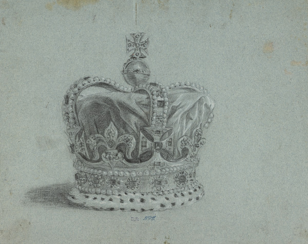 A Crown. Study for the Painting of George III in Coronation Robes (About 1761)