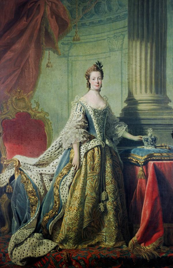 Queen Charlotte; Princess Sophia Charlotte of Mecklenburg-Strelitz, 1744 - 1818. Queen of George III