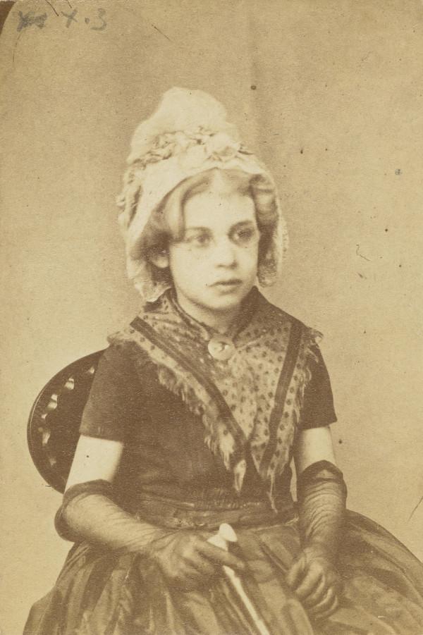 Caroline Grace MacDonald in fancy dress as an 18th century lady