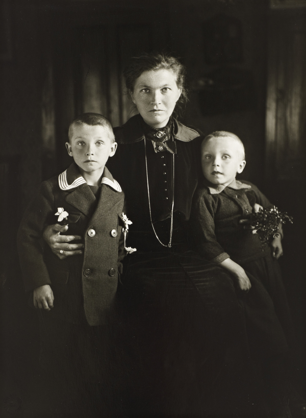Widow and her Sons, about 1921 (about 1921)