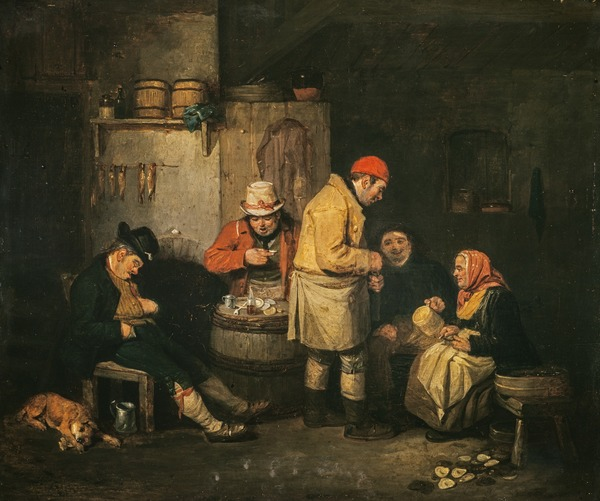 An Oyster-cellar in Leith (About 1819)