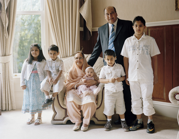Munawar Hayat with his Wife and Grandchildren, Glasgow, 28 June 2011. From A Scottish Family Portrait series