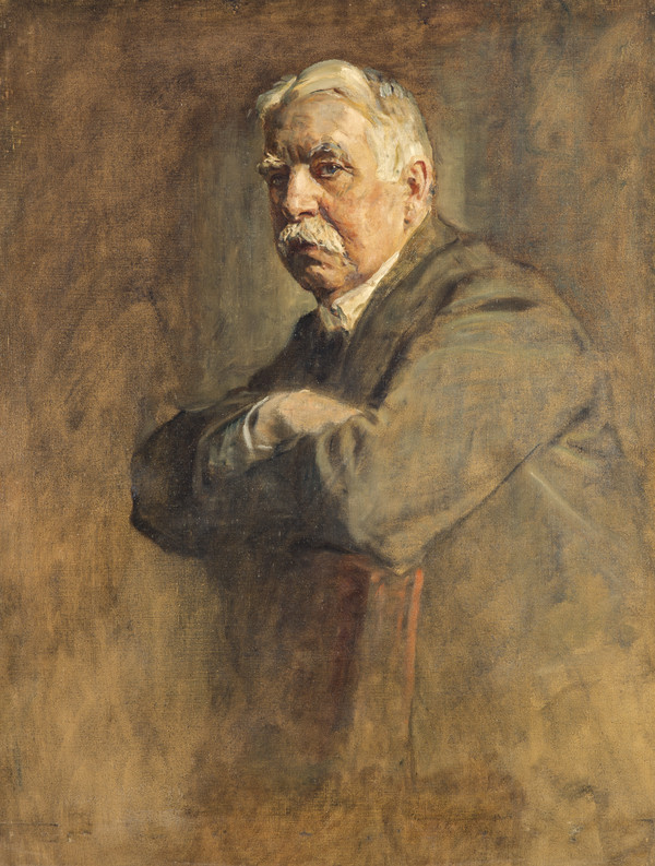 Edward Patrick Morris, 1st Baron Morris, 1859 - 1935. Prime Minister of Newfoundland. (Study for portrait in Statesmen of the Great War)