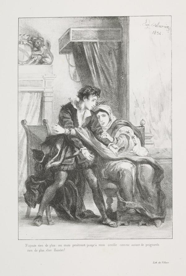 Hamlet et la Reine' (Hamlet and the Queen) (Act III, Scene IV)