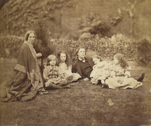 Louisa MacDonald (née Powell), 1822 - 1902, and family with Lewis Carroll