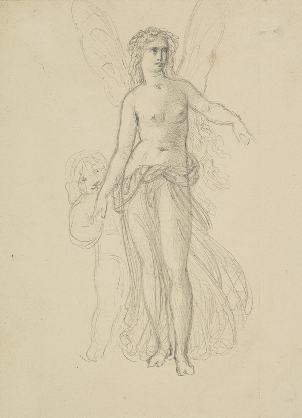 Titania. Study for the Painting 'The Quarrel of Oberon and Titania' [Verso: Study for the Painting 'Silenus Surprised by Aegle']
