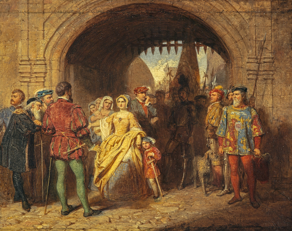 A Study for 'Queen Margaret's Defiance of the Scottish Parliament' (NG 2527)