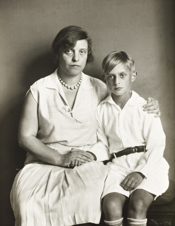 Mother and Son [Lou Straus-Ernst and her son Jimmy], 1928 (1928)