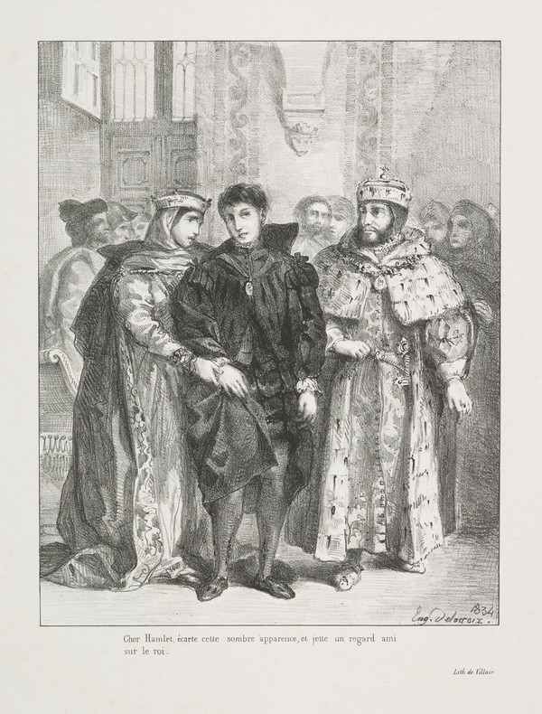 La Reine S'Efforce de Consoler Hamlet' (The Queen Attempts to Console Hamlet) (Act I, Scene II)