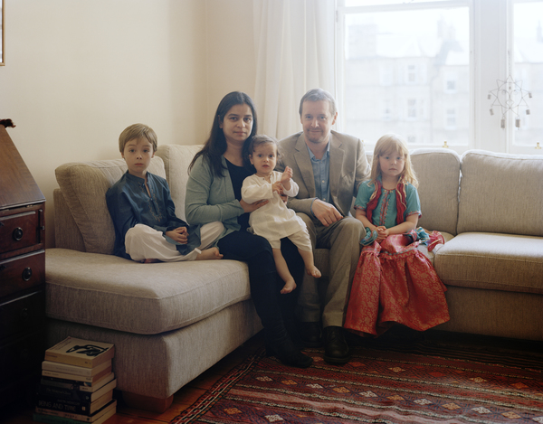 Sana Bilgrami with her Family, Edinburgh, 2 July 2011. From A Scottish Family Portrait series