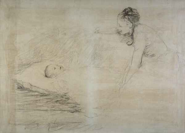 Mother and Child. Study for the Painting 'Master Baby'