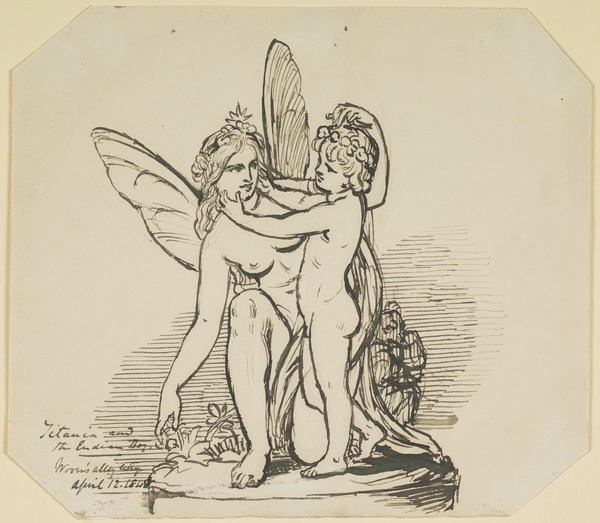 Titania and the Indian Boy. Study Relating to the Painting 'The Quarrel of Oberon and Titania' (Dated April 12, 1848)