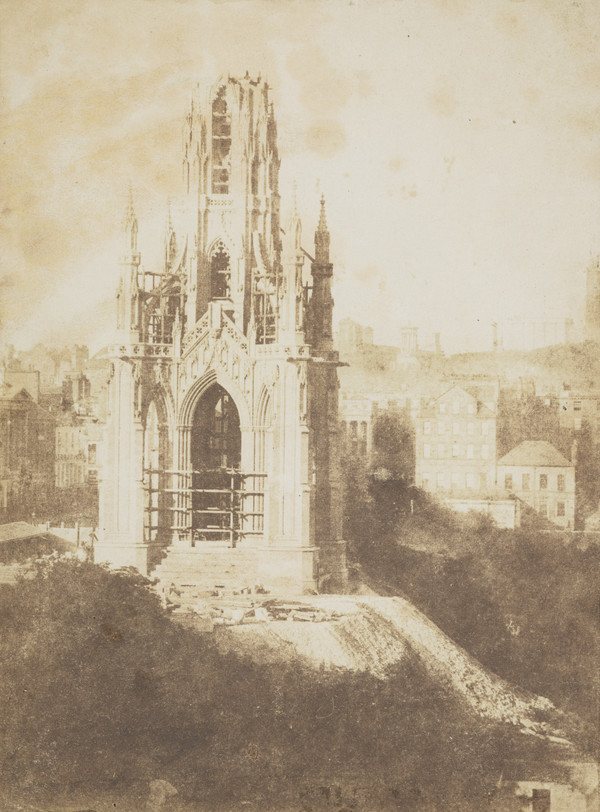 The Sir Walter Scott Monument during building [Edinburgh 10]