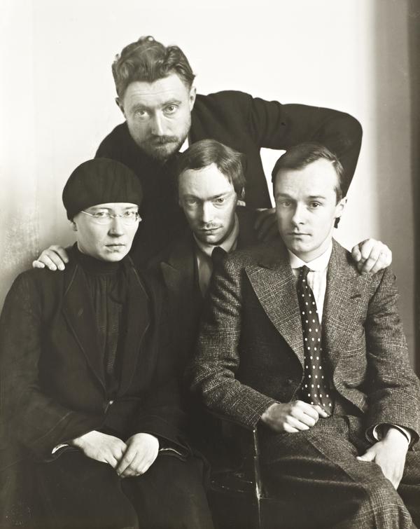 Proletarian Intellectuals [Else Schuler, Tristan Rémy, Franz Wilhelm Seiwert, Gerd Arntz], about 1925 (about 1925)