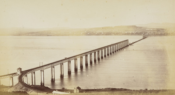 Tay Bridge, from the South (after Disaster), Dundee