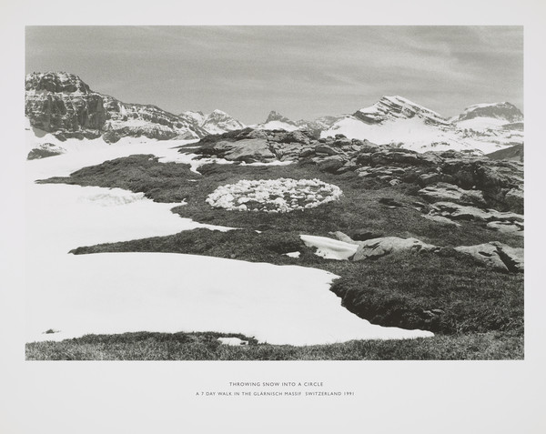 Throwing Snow into a Circle. A Seven Day Walk in the Glärnish Massif, Switzerland 1991 (from the portfolio 'Dear Stieglitz')