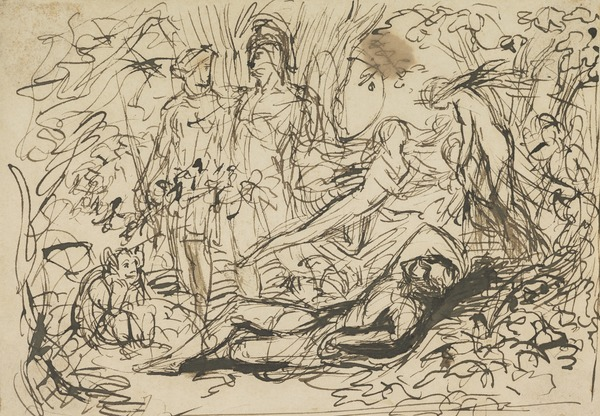 Compositional Study for the Painting 'The Reconciliation of Oberon and Titania'