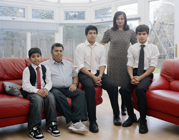 Mona Siddiqui with her Family, Dullatur, 17 October 2010. From A Scottish Family Portrait series