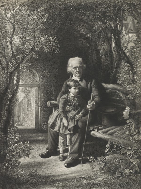 Rev. Thomas Chalmers, 1780 - 1847. Preacher and social reformer (with his grandson Thomas Chalmers Hanna)