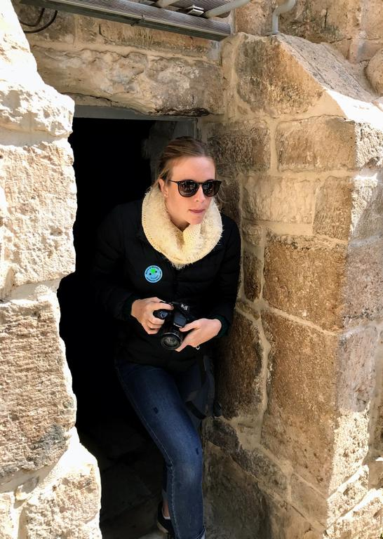 Ali navigating the tight alleys of the old city.