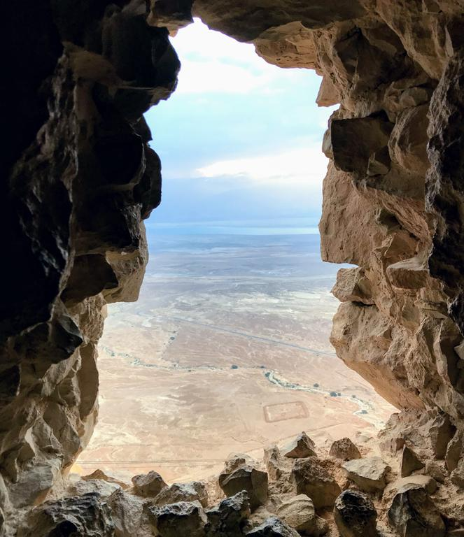 A window out toward Jordan.