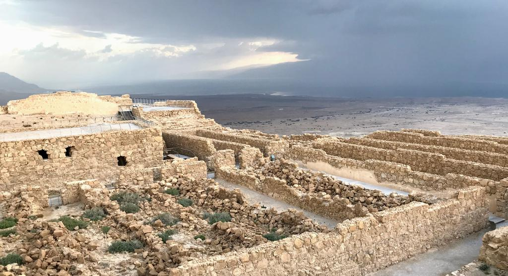 Looking down at the ruins of Masada