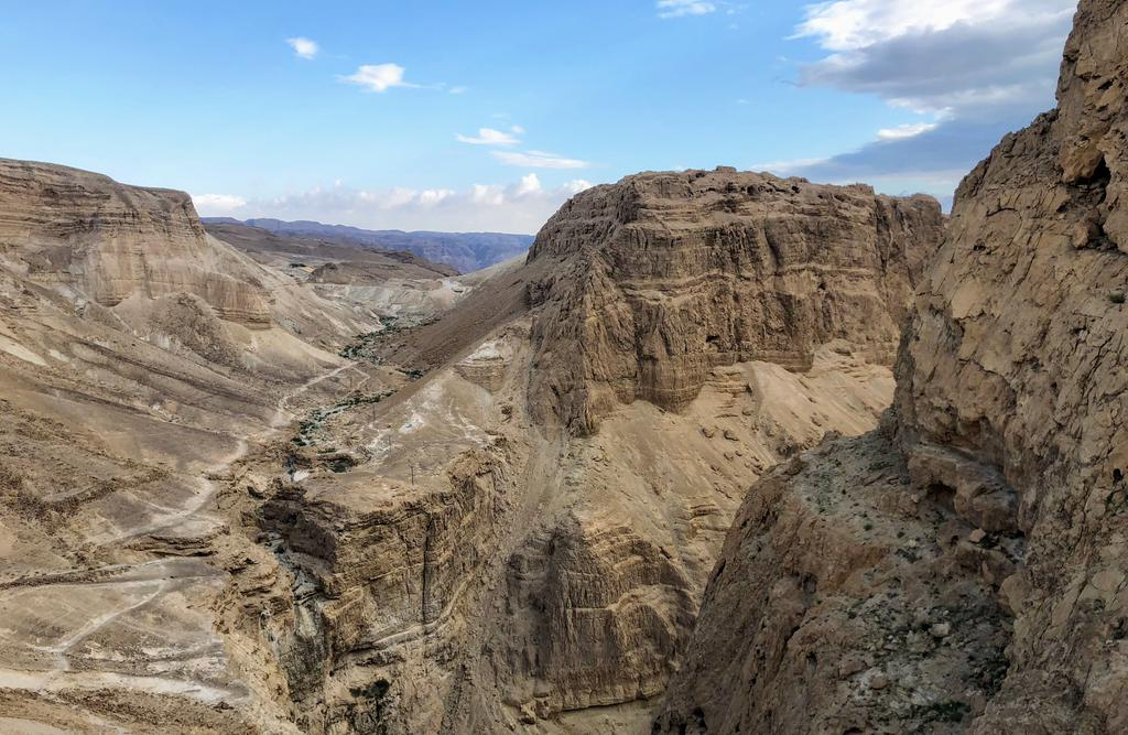 Some stark scenery on our hike down from Masada.