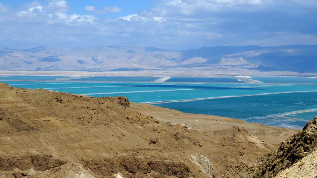 With the beautiful colours of the Dead Sea contrasted against the stark desert, this is an amazing place to see.