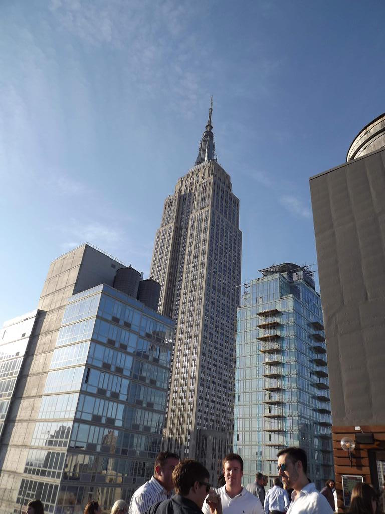 How often do you get the Empire State as your backdrop to a great conversation?